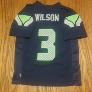 Seattle Seahawks Russell Wilson Jersey Boys Small